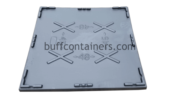 """Universal Plastic Container Lid 48"""" x 45"""""""